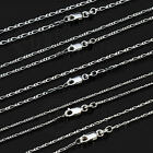 925 Sterling Silver Figaro Necklace Chain 1+3 1.5mm 45/50/55/58/60/70/80cm NF4