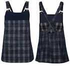 Womens Dress Bellfield New Ladies Check Pattern Microcord Pinafore Dungarees