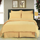 8pc Luxury Super Soft Gold Bedding w/Microfiber Sheets Duvet Cover & Comforter