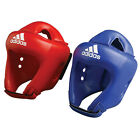 Adidas Boxing Rookie Headguard Blue or Red PU/Velcro Jaw Strap CE Approved