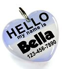 Hello My Name Is Lavender heart dog cat cute charm custom pet tag by ID4PET
