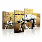 BANKSY Star War I Am Your Father Canvas 4A-RH Framed Printed Wall Art ~ 4 Panels