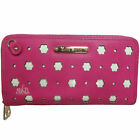 Anne Smith (LYDC) Ladies Girls Flower and Dot Laser Cut Out Clutch/Purse