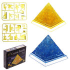 38 pcs Puzzle 3D DIY Crystal Puzzle Pyramid Light Up Three-Dimensional Gift Box