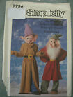 DISNEY GRUMPY DOPEY DWARFS COSTUME SEWING PATTERN 7736