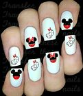 30 MINNIE MICKEY MOUSE NAIL ART DECALS STICKERS WATER TRANSFERS LOVEHEART