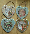 Christmas hanging large heart decoration. Card alternative/gift. santa or robins