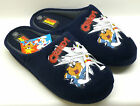 "MENS BLUE DANGER MOUSE ""CRIKEY"" SLIP ON STYLE  MULE SLIPPERS"