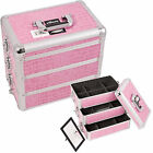 Pink Crocodile 3-in-1 Stackable Trays Makeup Cosmetic Upgradable Case Box E3303