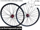 "CSC Hookless 30mm Wide 25mm Deep clincher 27.5""carbon MTB wheels 15mm thru axle"
