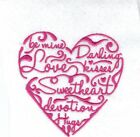VALENTINES  EMBROIDERED DRESSING GOWN GIFT PRESENT  2 COLS 3 DESIGNS 3 SIZES