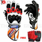 Leather Repsol Honda Motorbike Gloves MotoGP Motorcycle Gloves Racing Suits GAS