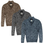 Mens Jumper Brave Soul New Fleck Knitted Winter Long Sleeved Sweater Pullover