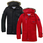 Mens Jacket Smith And Jones New Zip Casual Hooded Parka Parker Winter Coat