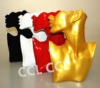 6 Styles Gold Red Jewellery Necklace Choker Pendant Earring Display Bust Stand