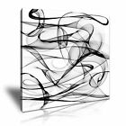 MODERN ABSTRACT ART B&W Smoke Canvas Framed Printed Wall Deco ~ More Size