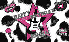 print edible images - ROCK STAR ANIMAL PRINT Edible Image Frosting Sheet Cake Topper PERSONALIZED!