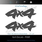 4x4 Decals Stickers Chevy Gmc Ford Dodge Toyota Truck Off Road / Pair