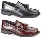 Roamers Skinhead Polished Leather Tassle Loafers Oxblood Toggle Saddle Shoes New