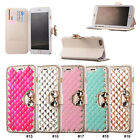 "Cute Bling Bow Magnetic PU Leather Stand Flip Case Cover For 4.7"" 5.5"" iPhone 6"