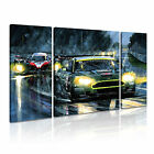 TRANSPORT Vehicle Car 2 Canvas 3B Framed Prined Wall Size ~ 3 Panels