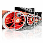 TRANSPORT Vehicle Train 2 Canvas 4B Framed Printed Wall Art ~ 4 Panels