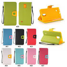 Color PU Leather Wallet Flip Stand Case Cover For Samsung Galaxy Note 4 N9100