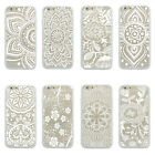 White Mandala Lotus Flower TPU Bumper Clear Hard case For iPhone 4 4s 5 5s 6Plus