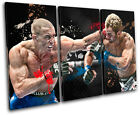 MMA Georges St. Pierre Sports TREBLE CANVAS WALL ART Picture Print VA