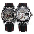 Military Mechanical Automatic Skeleton Men's Stylish Silicone Sport Wrist Watch