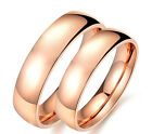 Gracious Classic Smooth 18K Rose Gold Plated Band Ring Jewelry A984 Many Size