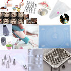Fondant Icing Cream Pastry Piping Bags Nozzles Cupcake Tips Cake Decorating #M