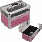 Professional Clear-Top Aluminum Nail Artist Train Case 54 Polish Organizer