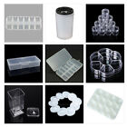 hot sale Nail Art Containers Holder Case Box Rhinestones Brushes Storage Wheel
