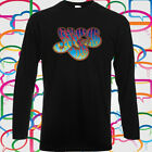 New YES Rock Band Logo Long Sleeve Men's Black T-Shirt Size S to 3XL