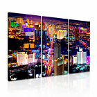 LAS VEGAS VALLEY USA Skyline Canvas Framed Print ~ 3 Panels