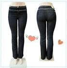 lady High Waist Stretch Boot Cut Skinny New Gift Fashion Style Women jeans