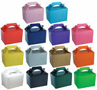 10 Party Boxes - Choose From 14 Colours - Lunch Meal Gift Bag Childrens Food