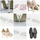 Self Adhesive Diamante Wedding Shoe Crystal Gems Bride Groom Something Blue I Do