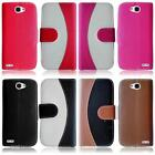 For LG Ultimate 2 L41C Two Tone Leather Card Holder Cover Case