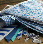 10-40ft (3-12m) JILPI BLUE WHITE FABRIC BUNTING, FLORAL, STRIPES, WEDDINGS !