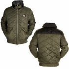 Mens Jackets Voi Jeans New Casual Sherpa Lined Bomber Quilted Warm Winter Coat