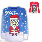 Kids Xmas Christmas Minion Desipcable Knit Vintage Winter Jumper UK Age 5 - 12