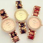 FLORAL TWO-TONE CRYSTAL WATCH 2015 NEW WOMEN RHINESTONE FLOWER WRISTWATCHES