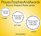 ROUND shaped NAME PLATE personlized Custom circle nameplate  Choice of size