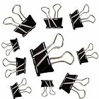 10x Fold back Clips Black Bull Dog Style Binder Grip 19 - 25- 32- 41- 51 mm