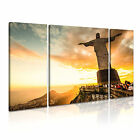 RIO 2 Brazil South Americam Cityscape 3B Framed Print Canvas Wall Art~ 3 Panels