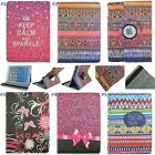 Leopard Flower Striped Pattern Rotating PU Tablet Protective Cover Case for iPad
