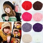 Hot Sale Lovely Warm Winter Stretchy Beret Braided Baggy Knit Crochet Beanie Hat