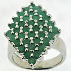 .925 Sterling Silver 1.8 Ct Emerald Ring